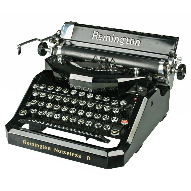 Art Deco Remington Noiseless Typewriter At 1stdibs