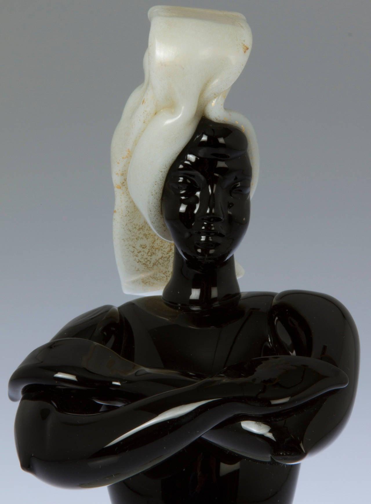 Murano italian glass genie sculpture for sale at stdibs