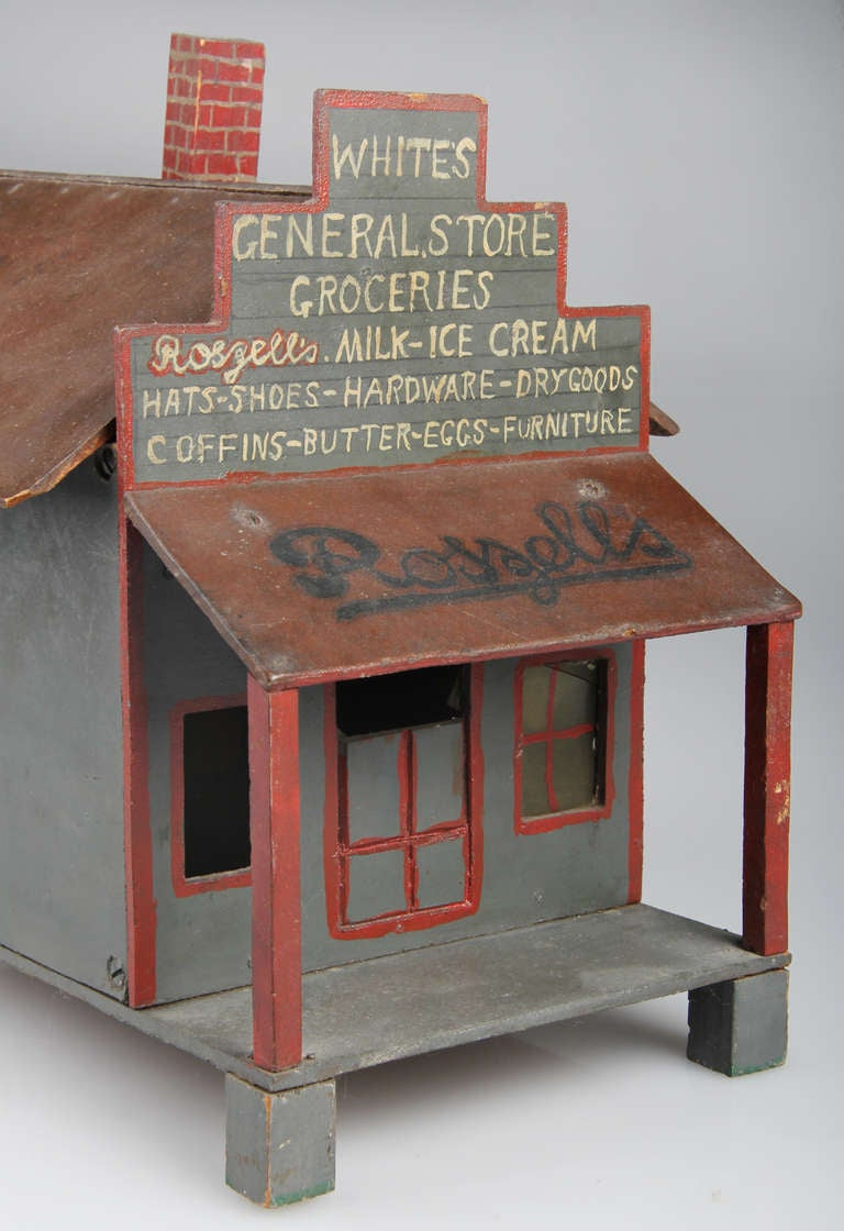 Scale Model Of Grocery Store At 1stdibs