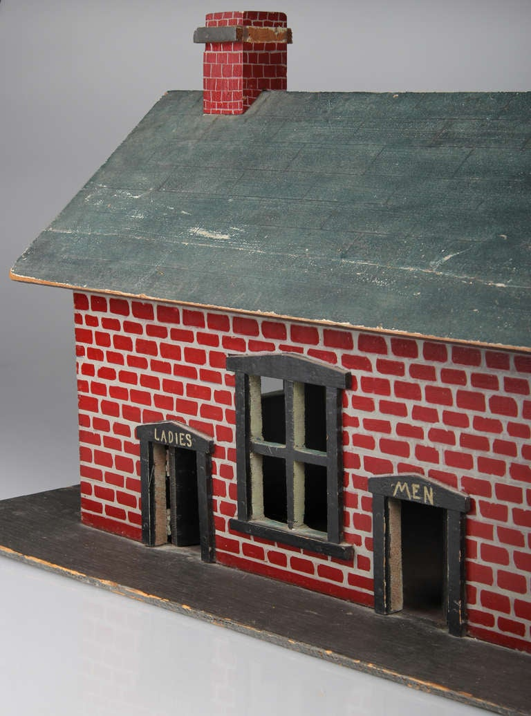 Folk art hammond indiana train station at 1stdibs for Self garage strasbourg