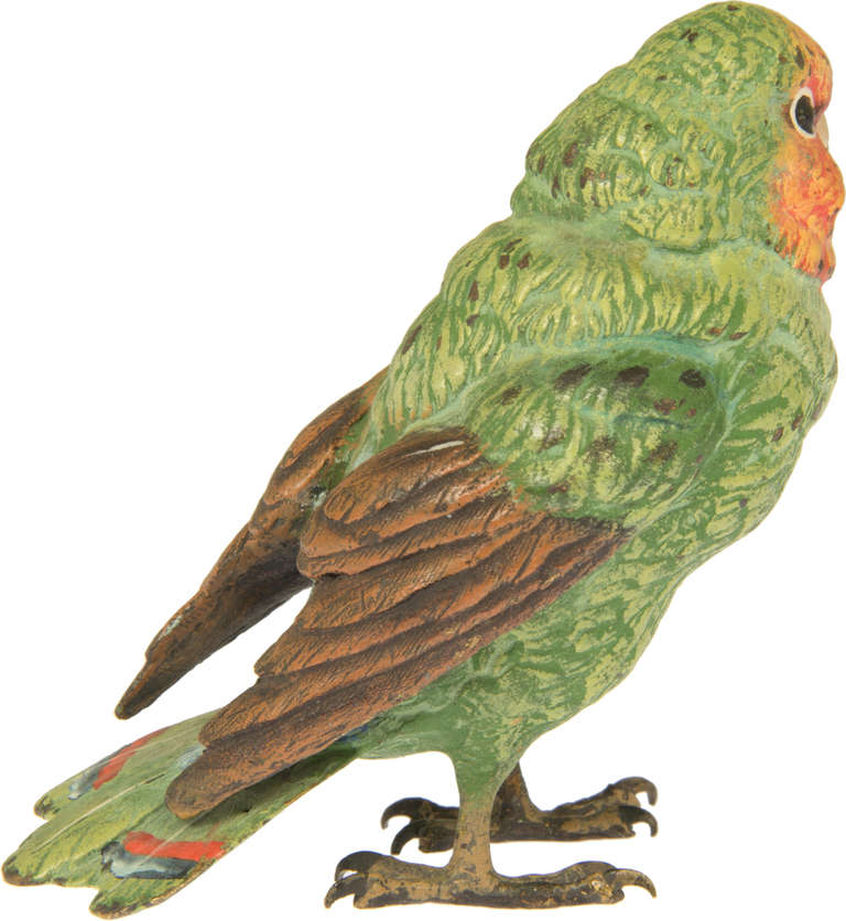 Green parrot painting - photo#15