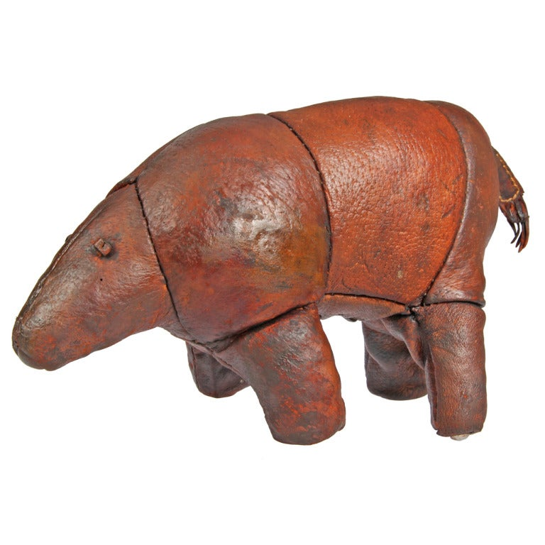 Leather Aardvark Sculpture Made For Abercrombie And Fitch