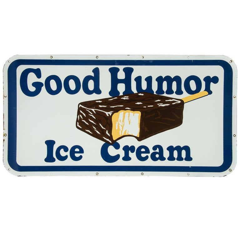 Quot Good Humor Ice Cream Quot Sign Porcelain On Steel At 1stdibs