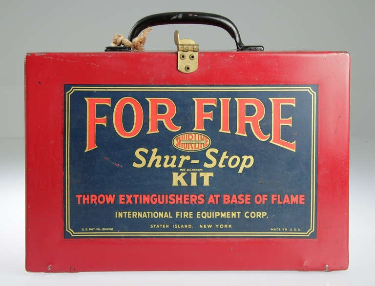 Shur Stop Fire Extinguisher Grenade Kit New York At 1stdibs