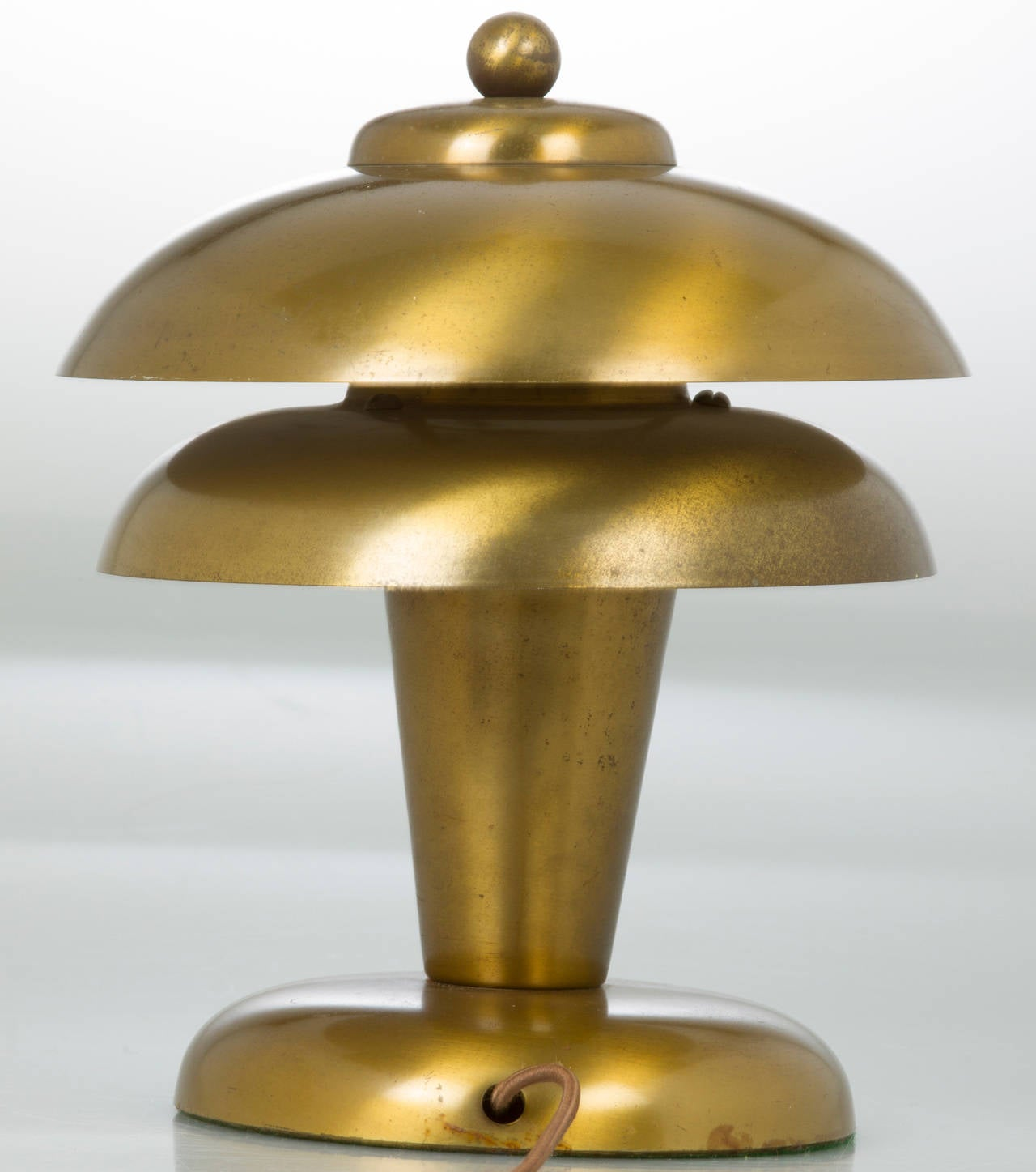 Art deco silver and stacked crystal ball floor lamp at 1stdibs - Art Deco Brass Table Lamp