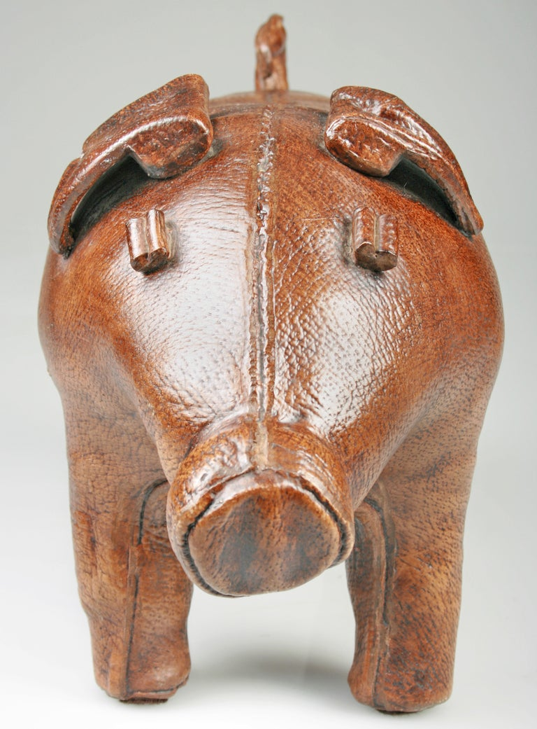 Large Ceramic Quot Leather Look Quot Piggy Bank Abercrombie And