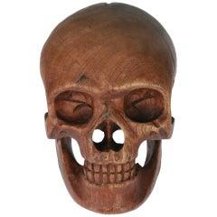 Carved Rosewood Skull