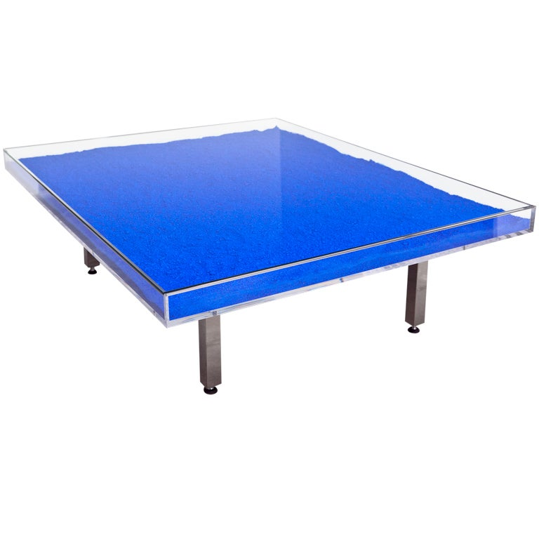 Table Bleue By Yves Klein At 1stdibs