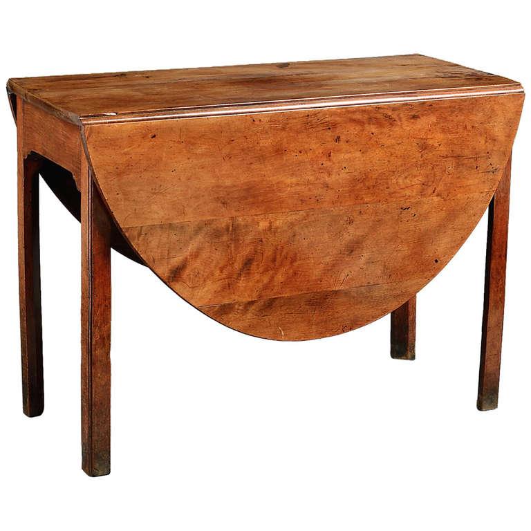 George III Yew Wood Drop Leaf Table At 1stdibs
