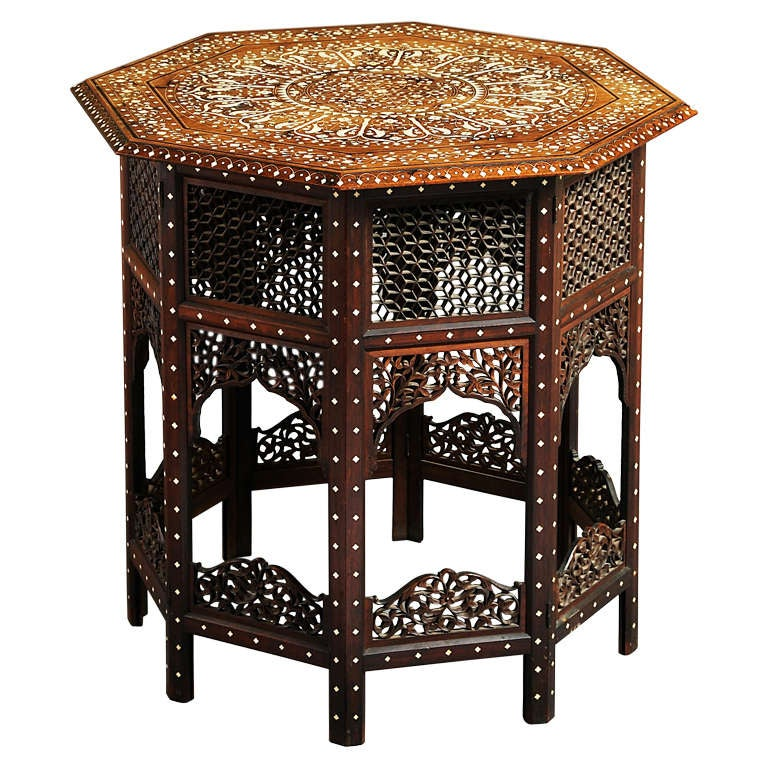 anglo indian table inlaid with birds at 1stdibs