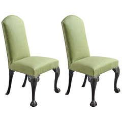 Pair of Scottish Mahogany Side Chairs