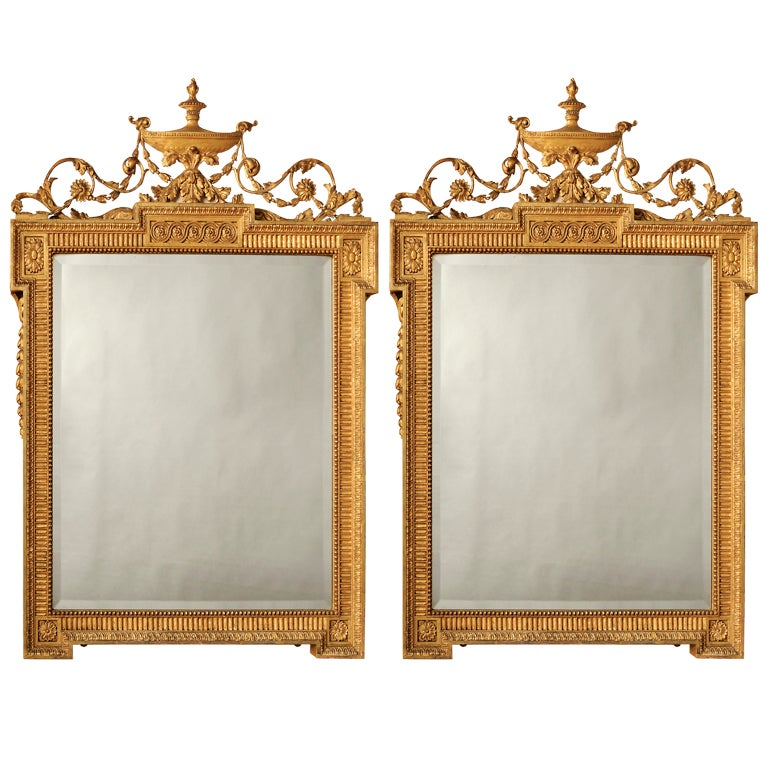 A pair of adam style mirrors at 1stdibs for Adam style mirror
