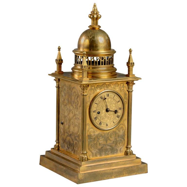 Elizabethan Revival Mantel Clock Circa 1840 For Sale At 1stdibs