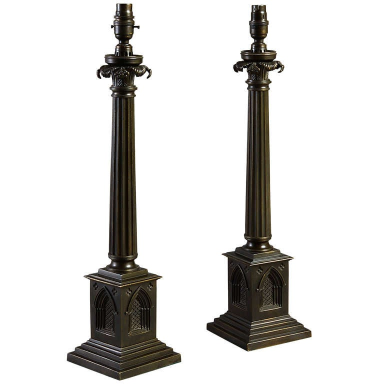 Pair Of George Iv Gothic Lamps At 1stdibs