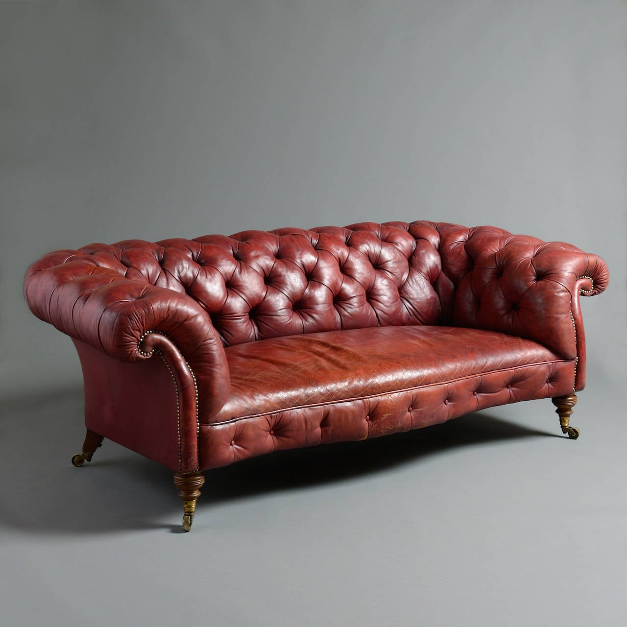Howard Red Leather Sofa At 1stdibs