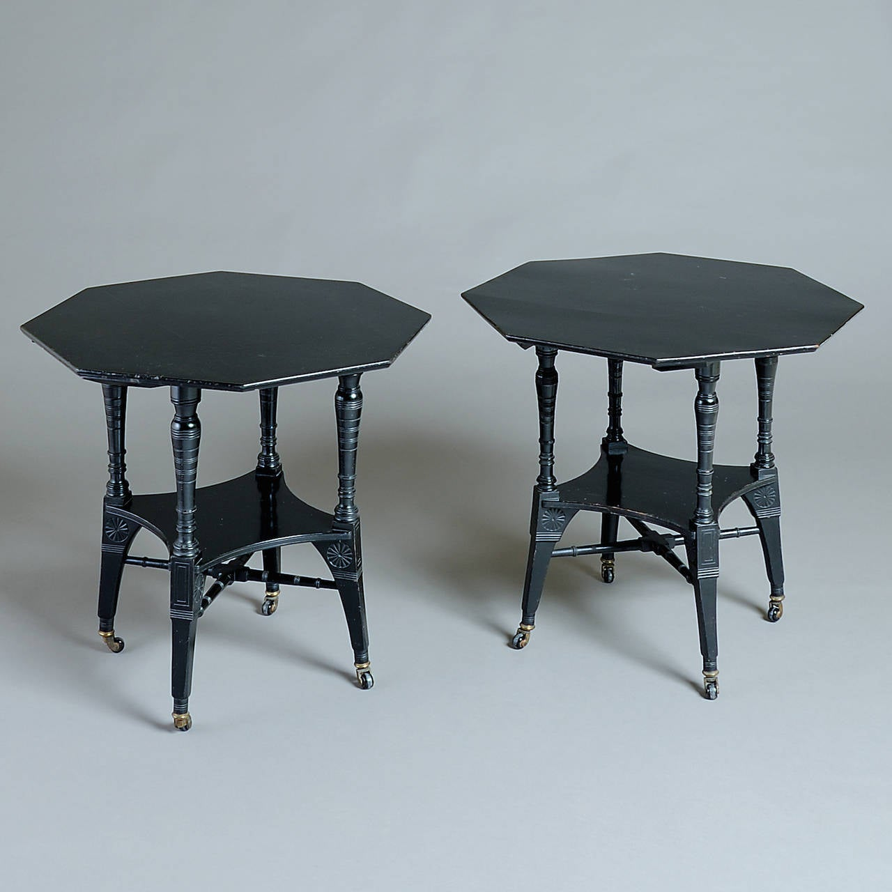 Pair Of Aesthetic Movement Tables At 1stdibs