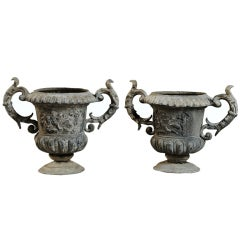 Pair of Lead Vases