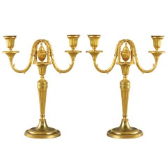 Pair Of Ormolu Candelabra