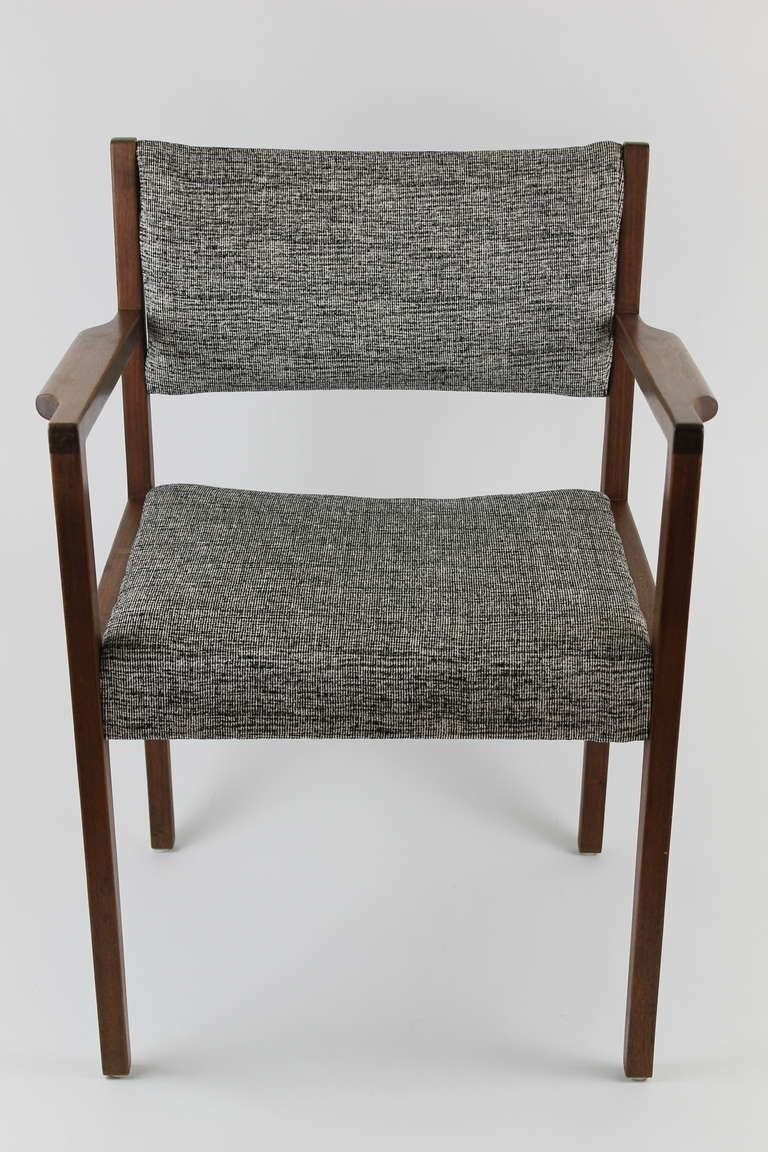 Jens Risom Side Chair Jens Risom Dining Side Chair With Arms For Sale At 1stdibs