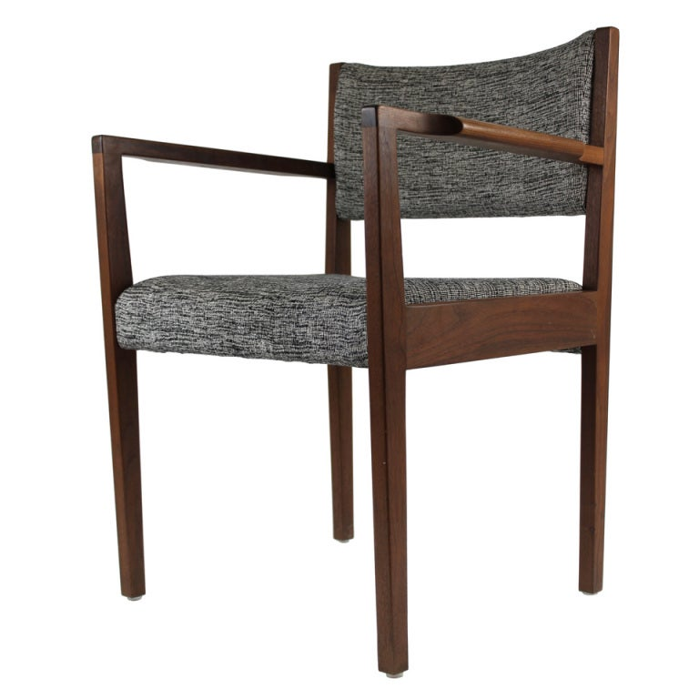 Jens Risom Dining / Side Chair With Arms For Sale At 1stdibs