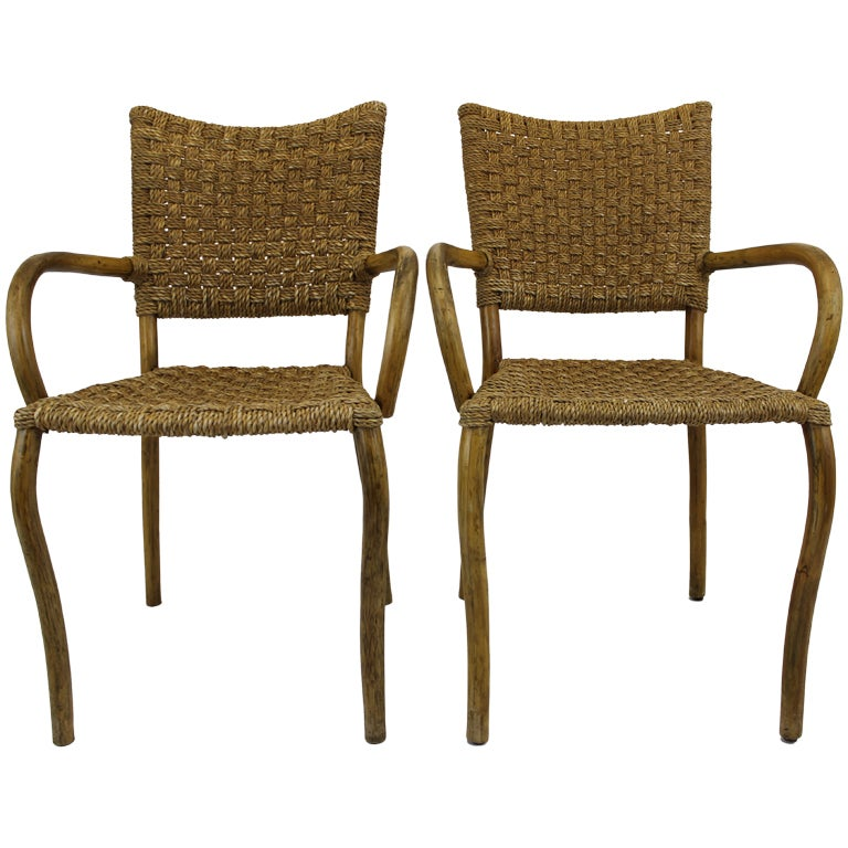 Hollywood regency style bamboo chairs