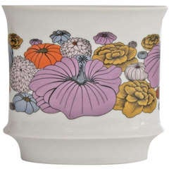 Vase with Floral Design by Alain Le Foll for Rosenthal