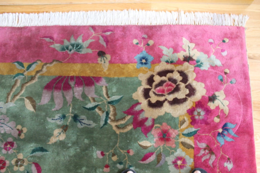 Large Art Deco Nichols Style Hand Knotted Oriental Rug