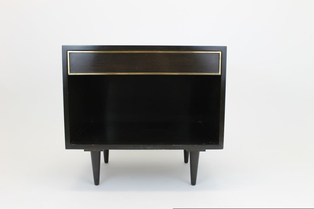Brass Harvey Probber small side table with drawer For Sale
