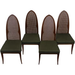 Harvey Probber cathedral back chairs - set of four