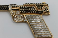 Chanel Handgun With Strass Crystals And CC Logo image 2