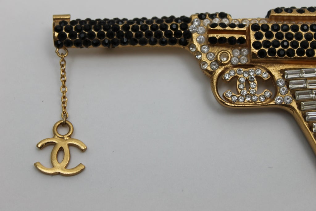 Chanel Handgun With Strass Crystals And CC Logo 3