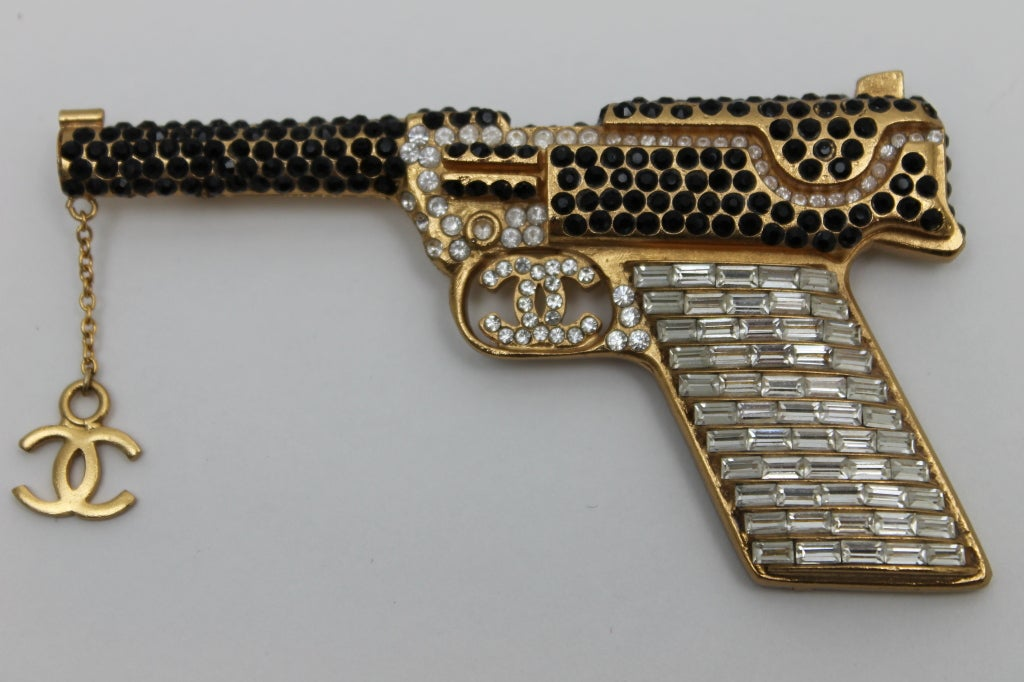 Chanel Handgun With Strass Crystals And CC Logo 7