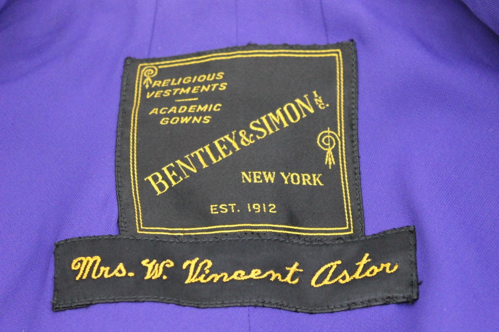 Estate of Brooke Astor Cap and Gown from NYU New York University For ...