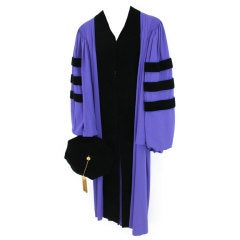Estate of Brooke Astor Cap and Gown from NYU New York University