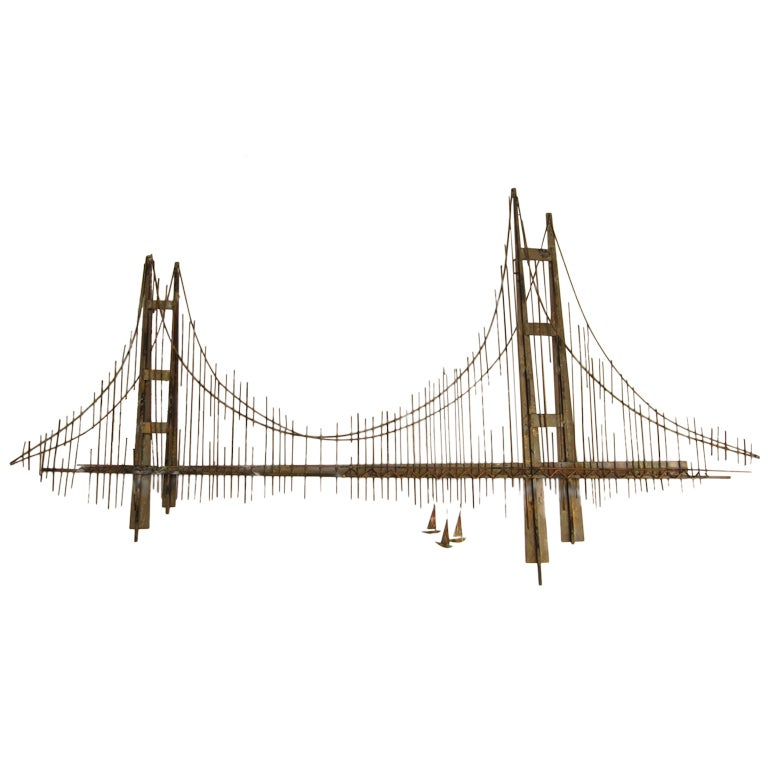 Golden Gate Bridge Wall Sculpture By Curtis Jere At 1stdibs