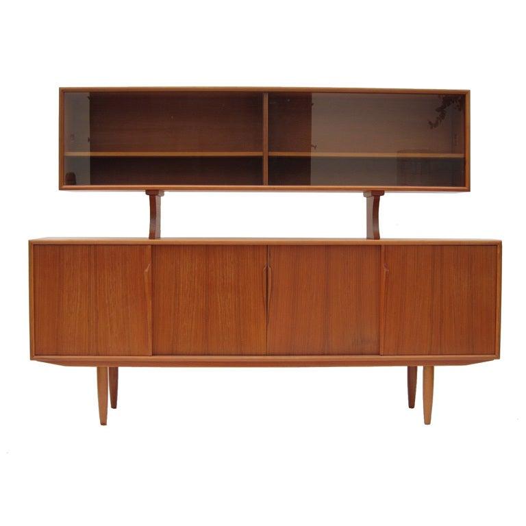 arne vodder danish teak sideboard and china cabinet at 1stdibs. Black Bedroom Furniture Sets. Home Design Ideas