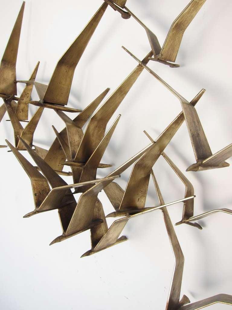 Curtis jere birds in flight wall sculpture image 3 for Bird wall art