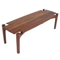 Solid Walnut Coffee Table by Bud Tullis