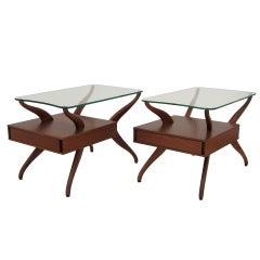 Pair of Vladimir Kagan Side Tables / End Tables