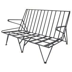Metal Patio Settee