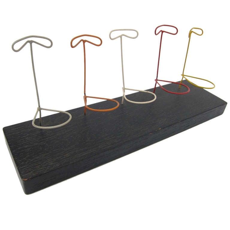 Modernist Smoking Pipe Rack At 1stdibs