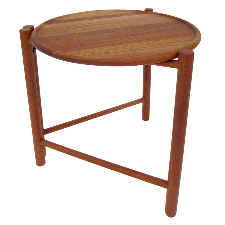 Danish Folding Side Table At 1stdibs