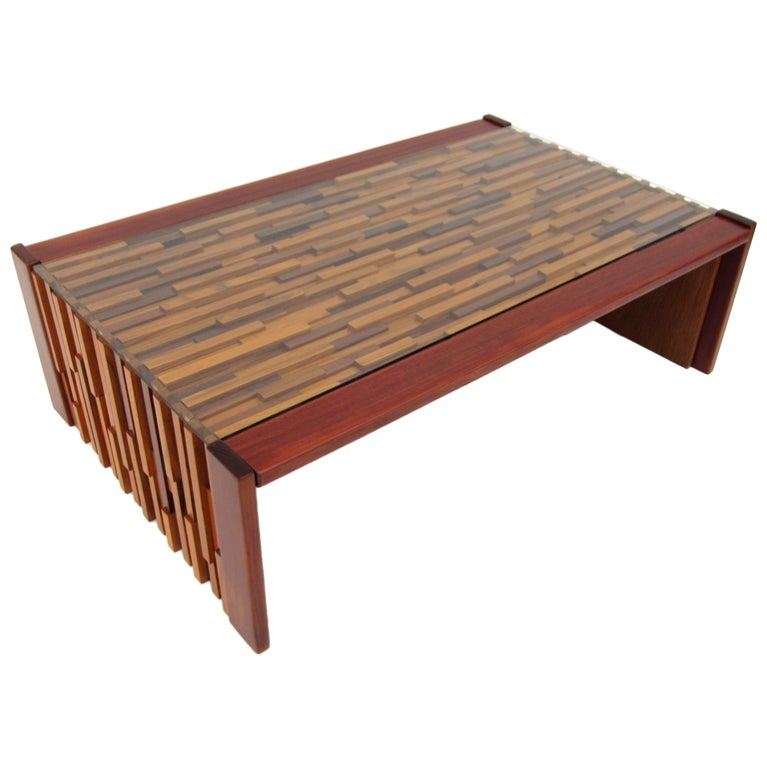 Percival Lafer Slat Wood Coffee Table At 1stdibs