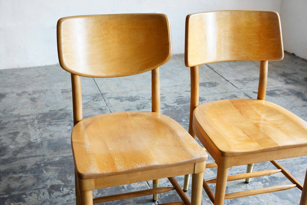 Set of 8 Bentwood School Chairs by Thonet, 1950s For Sale 2