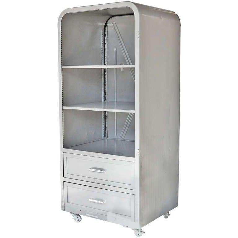 Repurposed 1950s Refrigerator/ Freezer Cabinet Case at 1stdibs