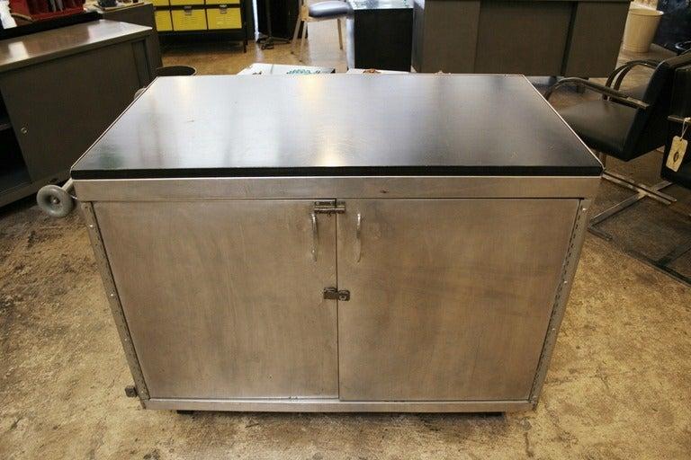 Stainless Steel Kitchen Storage Cabinets Stainless Steel Storage Cabinet At 1stdibs