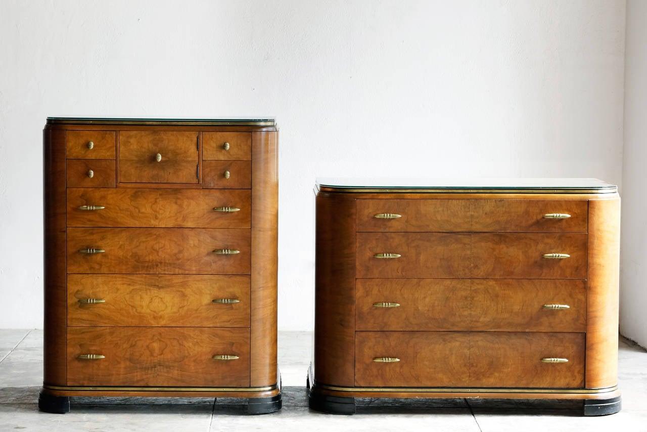 Art Deco Dresser Set By Rockford 1930s 3