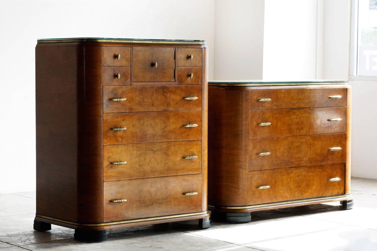 Art Deco Dresser Set By Rockford 1930s 2