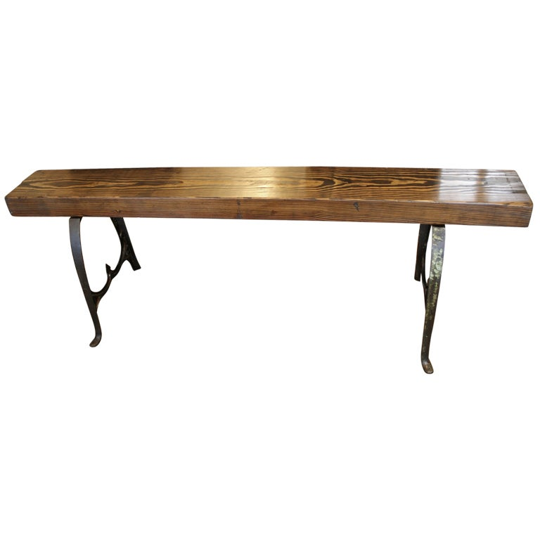 Antique Cast Iron Bench At 1stdibs