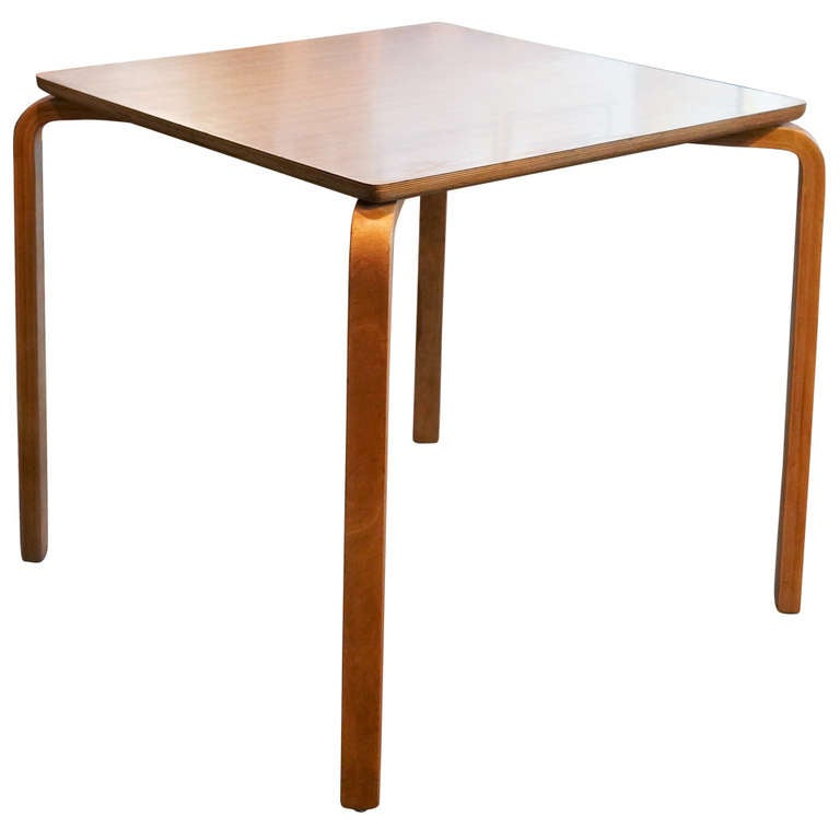 Thonet original bentwood square table 1950s at 1stdibs for Table thonet